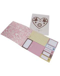 'Folk' Heart Wedding Planning Sticky Notes