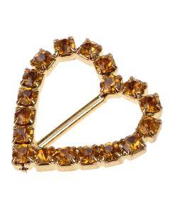 Gold Diamantes Gold Buckle - (Small) Vertical Bar
