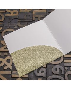 Enfolio Pocket Card - Gold Glitter Card