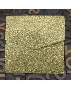 Enfolio Pocketfold (Lg Sq) - Gold Glitter Card