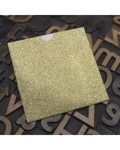 Enfolio Wallet 125mm Sq - Gold Glitter Card