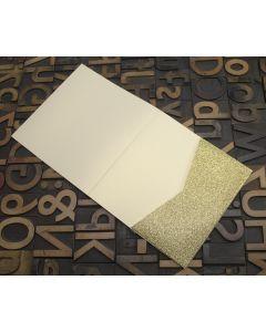 Enfolio Tentfold (Lg Sq) and Add On Pockets - Gold Glitter Card