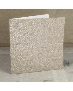 Creased Card Large Square - Champagne Supernova Glitter Card