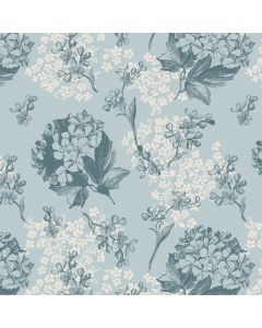Hortensia (China Blue) Decorative Paper - Zoom