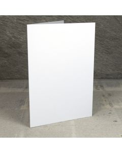 Creased Card A5 - White Lustre