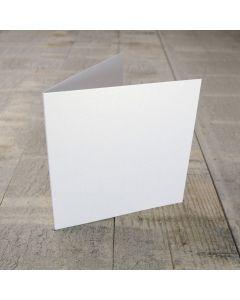 Creased Card Small Square - White Lustre