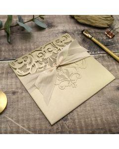 Baroque Lasercut Pocketfold with Silk Ribbon Recipe