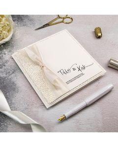 Pocket Card with Silk Ribbon DIY Wedding Invitation Recipe
