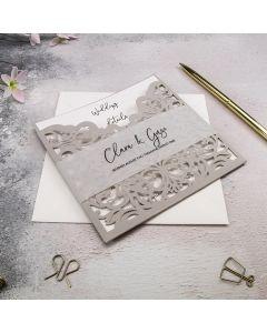Border Motif Wedding Invitation