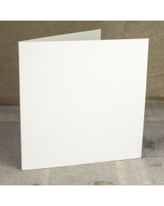 Creased Card Large Square - Ivory Sparkle
