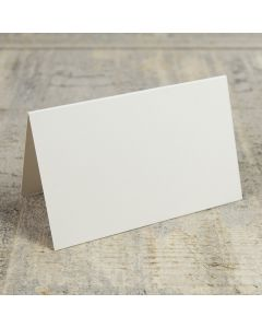 Creased Card Place Card - Ivory Sparkle