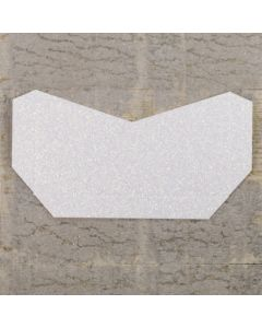 Enfolio Tentfold (Lg Sq) Add on Pocket - Iridescent White Glitter Card