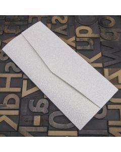 Enfolio Pocketfold (DL) - Iridescent White Glitter Card