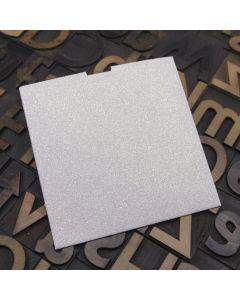 Enfolio Wallet 125mm Sq - Iridescent White Glitter Card