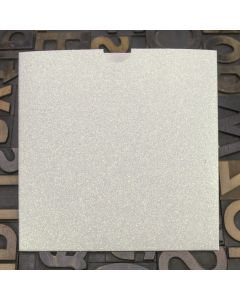 Enfolio Wallet 146mm Sq - Iridescent White Glitter Card