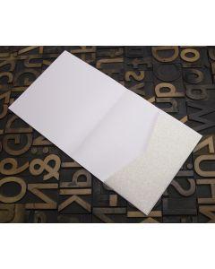 Enfolio Tentfold (Lg Sq) and Add On Pockets - Iridescent White Glitter Card