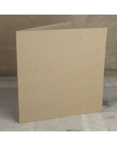 Creased Card Large Square - Kraft