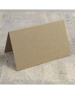 Creased Card Place Card - Kraft