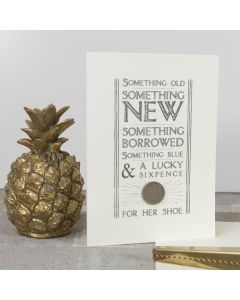 Retro Sixpence Card