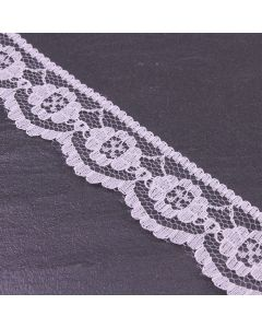 25mm Wide White Vintage Style Lace