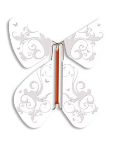 Vintage White Magic Flyer Butterfly
