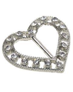 Bonnie Buckle - Crystal Heart Embellishment