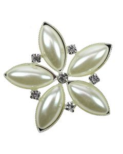 Andorra Embellishment - Extra Large Pearl and Diamante Embellishment