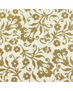 Damask Gold Glitter Card