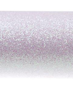 Glitz Iridescent White Glitter Paper - Close Up