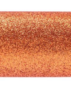 Glitz Burnt Orange Glitter Paper - Close Up