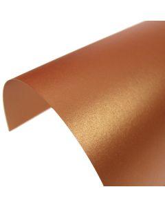 Stardream Copper Pearlescent A4 Card - Curve