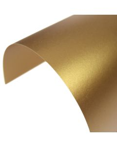 Stardream Antique Gold Pearlescent A4 Card - Curve