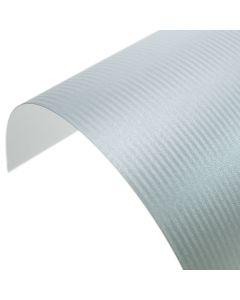Precious Pearl Blue Mist Stripes Pearlescent A4 Card
