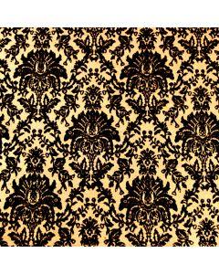 The Sandringham (Black On Gold) A4 Flocked Paper