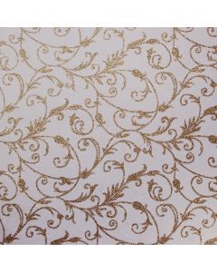The Lichfield (Gold on Soft White) Glitter Paper