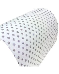 The Houghton (Glitter Polka Dot on Soft White) Decorative Fabric Paper