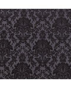 The Sandringham (Black On Black) A4 Flocked Paper