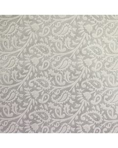 The Paisley (Ivory on Ivory) A4 Flocked Paper.