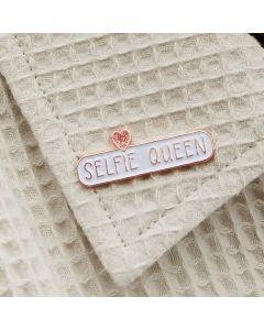 SELFIE QUEEN Enamel Pin Badge