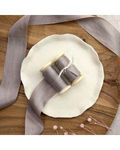 May Arts Grey (Colour 31) 32mm Pure Silk Ribbon x 1m