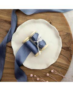 May Arts Slate Blue (Colour 83) 32mm Pure Silk Ribbon x 1m