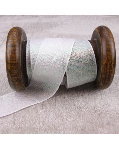 3mm Dazzle Metallic Colour 1 (White) Ribbon
