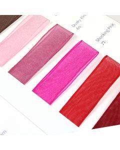 Berisford's Sheer Organza Ribbon Shade Card - Zoom