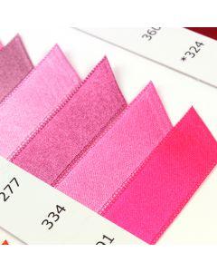 Satab Double Faced Satin Ribbon Shade Card - Pinks