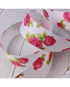 25mm White Colour 029 Vintage Rose (3m roll) - Swatch