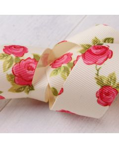 25mm Ivory Colour 810 Vintage Rose (3m roll) - Swatch