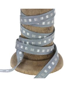 Silver Grey 7mm Box Stitch Ribbon Colour 18 - Reel