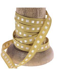 Honey Gold 7mm Box Stitch Ribbon Colour 678 - Reel