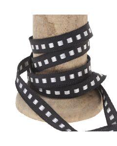 Black 7mm Box Stitch Ribbon Colour 10 - Reel