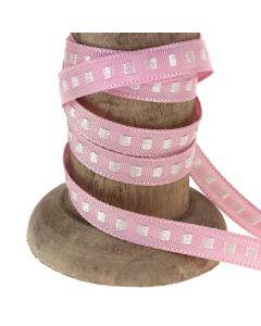 Pink 7mm Box Stitch Ribbon Colour 2 - Reel